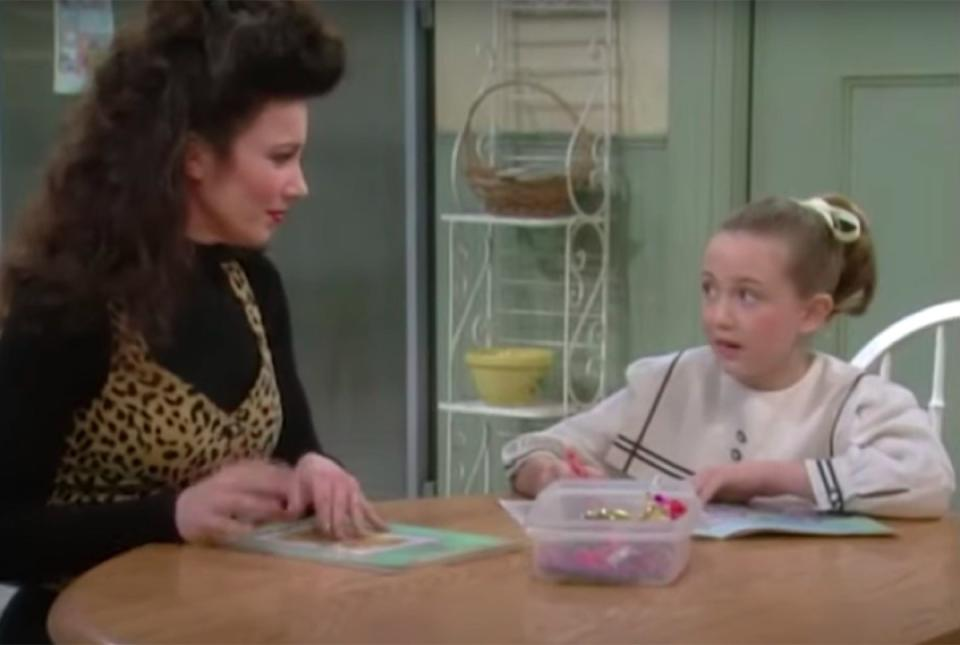 Fran Descher and Madeline Zima in The Nanny