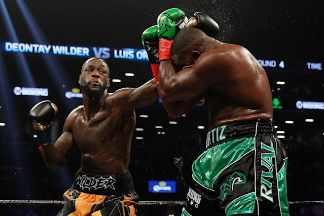 Deontay Wilder (L) defeated Luis Ortiz on March 3, 2018, at the Barclays Center in Brooklyn, New York live on Showtime. (Getty Images)
