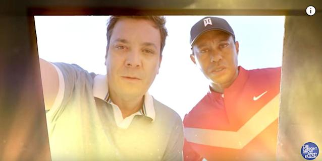 Tiger Woods And Jimmy Fallon Find Buried Treasure On Golf Course