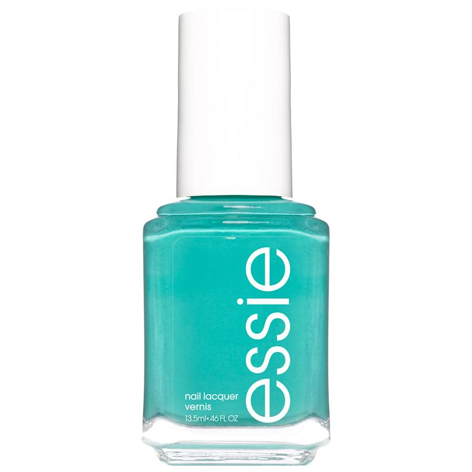 """<p>Being the water-bearer of the zodiac, you'll need to shine bright during spring (after all, you give TLC to all the blooming flowers). Therefore, it's essential for you to own this month. Adorn your nails with a dazzling sea foam green that can be seen and loved from miles away.</p> <p>To shop: $7, <a href=""""https://goto.walmart.com/c/249354/565706/9383?subId1=ISHereAretheNailColorsEachSignShouldWearforGeminiSeasonchenkNaiGal4513573202105I&u=https%3A%2F%2Fwww.walmart.com%2Fip%2Fessie-nail-polish-summer-2020-collection-dusty-cyan-blue-bustling-bazaar-0-46-fl-oz%2F697187417"""" rel=""""sponsored noopener"""" target=""""_blank"""" data-ylk=""""slk:walmart.com"""" class=""""link rapid-noclick-resp"""">walmart.com</a></p>"""