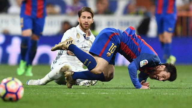 Sergio Ramos Lionel Messi Barcelona Real Madrid