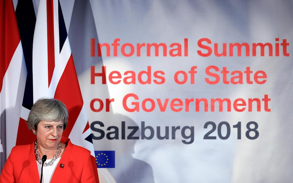 Prime minister Theresa May answered the EU's criticism at a press conference at the end of the summit (Reuters)