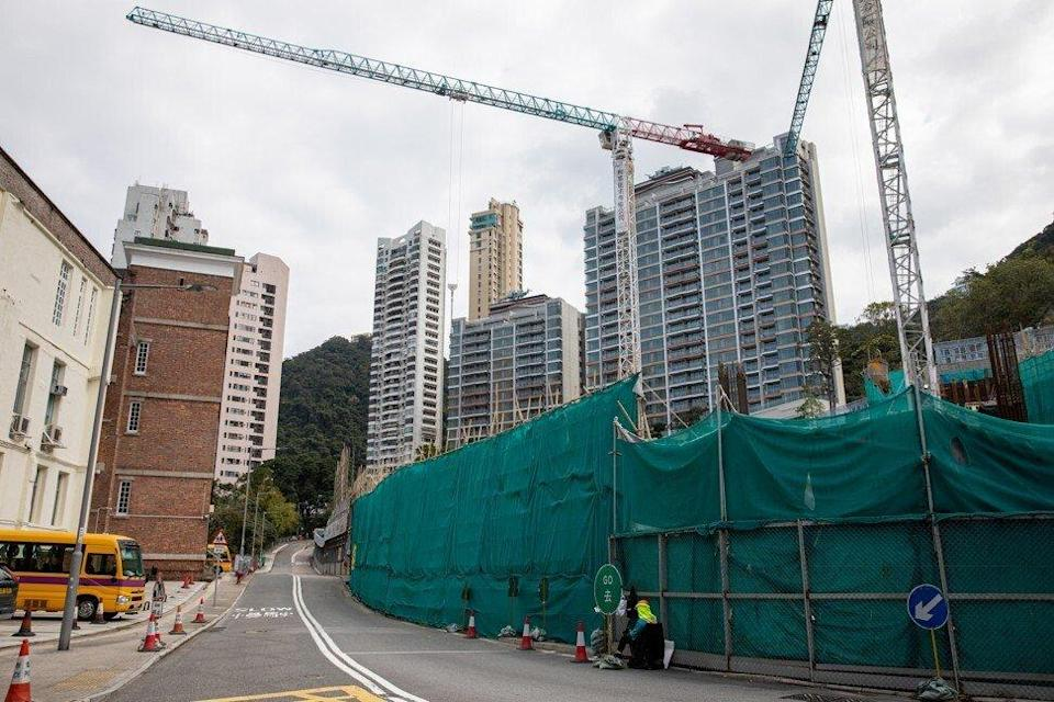 CK Asset's 21 Borrett Road luxury residential buildings (R and C) at The Mid-Levels in Hong Kong on 17 February 2021. Photo: EPA-EFE