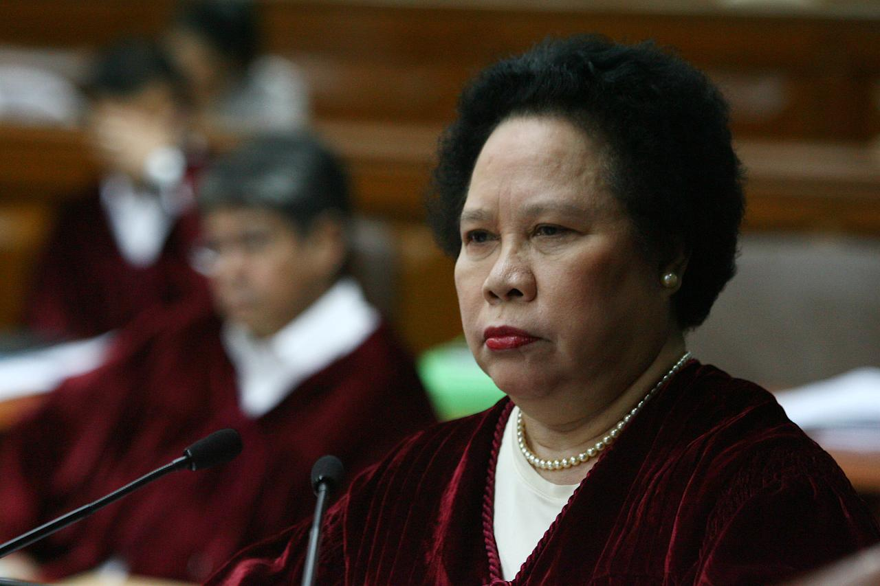 "After missing the first four days of the impeachment trial due to hypertension, Santiago saw to it that she arrived with a bang. ""I suffered from terminal boredom both from watching the impeachment trial on TV and from staying at home. It has been a display of legal ignorance that's why the trial has been taking so long."" Related Stories: Miriam Santiago faces ethics complaint over expletive Firebrand Filipino senator heats up virtual world, too"