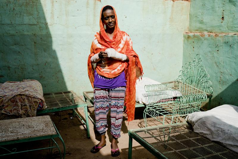 Amel Tajeldin, 41, a housewife and mother of four, poses for a photograph in Khartoum, Sudan, June 26, 2019. (Photo: Umit Bektas/Reuters)