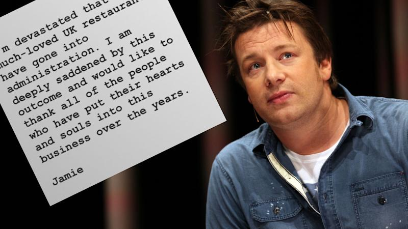 Jamie Oliver has had to concede defeat as his restaurant empire collapses. Images: Instagram (Jamie Oliver), Getty