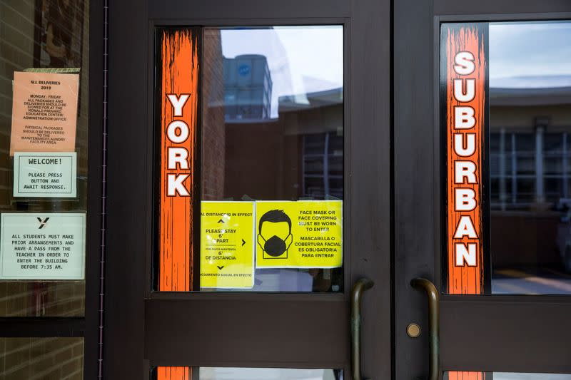 York Suburban schools resume with hybrid in-person and online classes