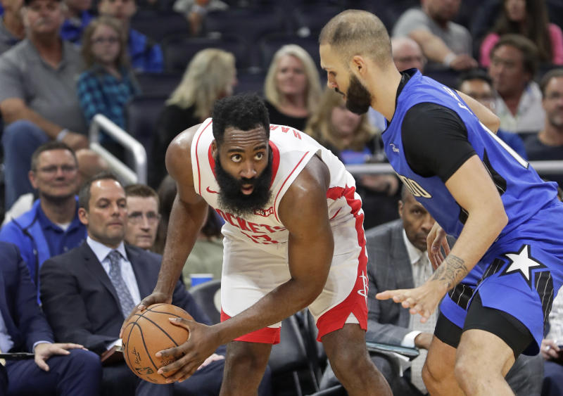 Magic can't contain James Harden in home loss to Rockets
