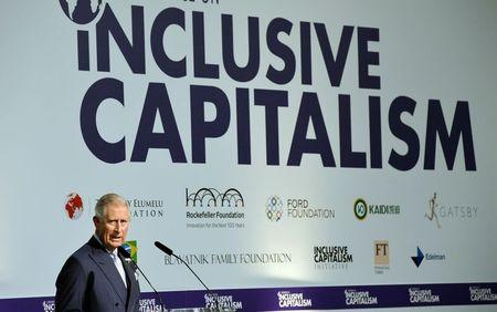 Britain's Prince Charles addresses the Inclusive Capitalism Conference, at the Mansion House in the City of London