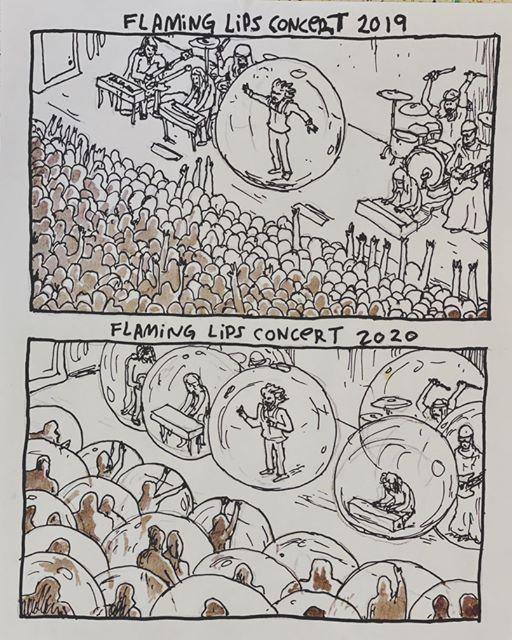 A cartoon posted by Wayne Coyne of the Flaming Lips. (Photo: Instagram)