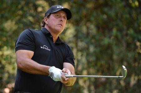 Mar 4, 2018; Mexico City, MEX;  Phil Mickelson watches his shot from the fifth tee during the final round of the WGC - Mexico Championship golf tournament at Club de Golf Chapultepec.  Orlando Ramirez-USA TODAY Sports