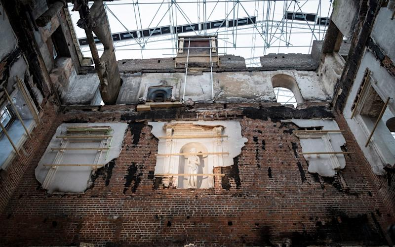The property was left in ruins with most of its contents destroyed - Andrew Crowley