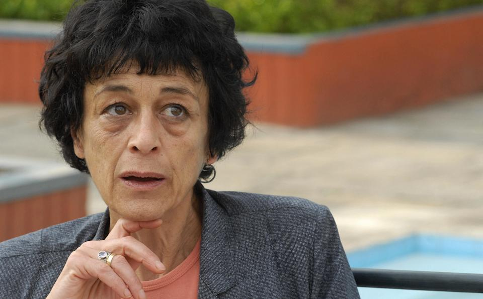 French lawyer for Charles Sobraj, Isabelle Coutant Peyre speaks to journalists in Kathamndu on May 7, 2008.  Peyre said that all the documents presented by prosecutors to convict Sobraj were fabricated and expressed hope that Sobhraj would be released soon under the changed political regime in Nepal.  Known as the