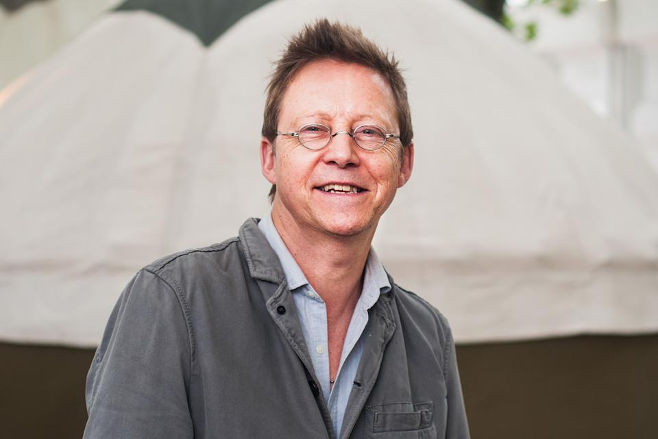 Simon Mayo attends a photocall during the annual Edinburgh International Book Festival at Charlotte Square Gardens on August 18, 2018 in Edinburgh, Scotland.  (Photo by Simone Padovani/Awakening/Getty Images)