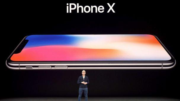 PHOTO: Apple CEO Tim Cook speaks about the new iPhone X during a media event at Apple's new headquarters in Cupertino, Calif., Sept. 12, 2017. (Josh Edelson/AFP/Getty Images)