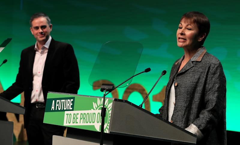 <i>Caroline Lucas and Jonathan Bartley </i> (PA Archive/PA Images)