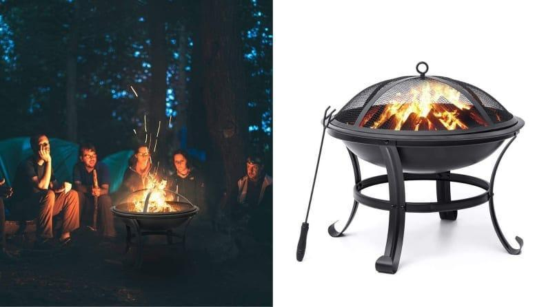 This affordable fire pit by Kingso will keep you warm outdoors.