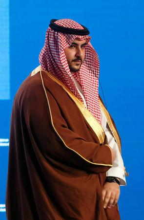 Saudi Arabia's Deputy Defence Minister Prince Khalid bin Salman attends the Moscow Conference on International Security