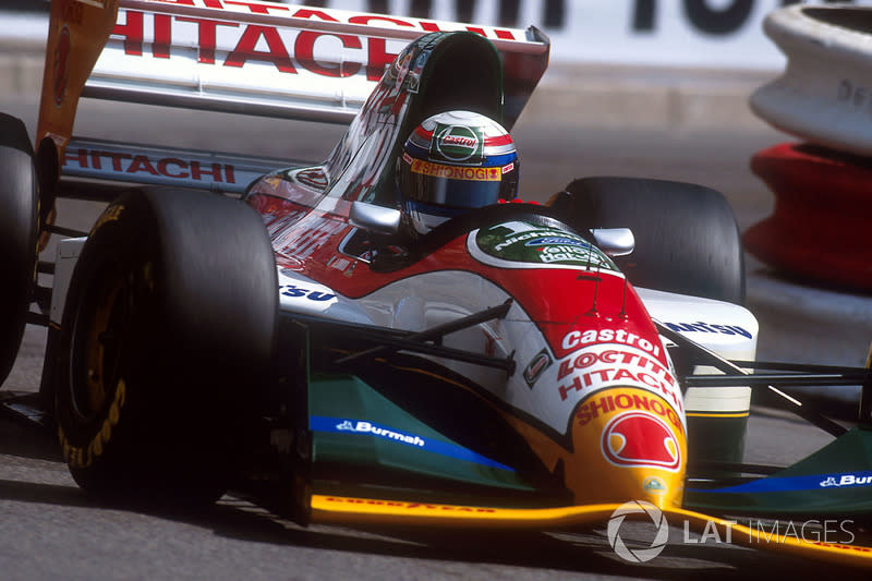 """Zanardi, Johnny Herbert, designer Chris Murphy and team manager Peter Collins all helped Team Lotus to perform well, even in the legendary squad's twilight years.<span class=""""copyright"""">Motorsport Images</span>"""