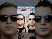 """<p>The sequel to Channing Tatum and Jonah Hill's beloved adaptation of 21 Jump Street, a police procedural series, 22 Jump Street lands the buddy cop duo in college. On a mission to infiltrate a drug ring, the two men quickly become sidetracked by the old college trope … finding themselves.</p><p><a class=""""link rapid-noclick-resp"""" href=""""https://www.amazon.com/gp/video/detail/amzn1.dv.gti.6aa9f6fb-f9e8-9f36-4bb8-f6f52b2429c5?autoplay=1&ref_=atv_cf_strg_wb&tag=syn-yahoo-20&ascsubtag=%5Bartid%7C10054.g.34788479%5Bsrc%7Cyahoo-us"""" rel=""""nofollow noopener"""" target=""""_blank"""" data-ylk=""""slk:Watch Now"""">Watch Now</a></p><p><a href=""""https://www.youtube.com/watch?v=h5GmEWknZ64"""" rel=""""nofollow noopener"""" target=""""_blank"""" data-ylk=""""slk:See the original post on Youtube"""" class=""""link rapid-noclick-resp"""">See the original post on Youtube</a></p>"""