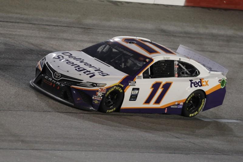 Hamlin earns second win of NASCAR season in rain-hit race