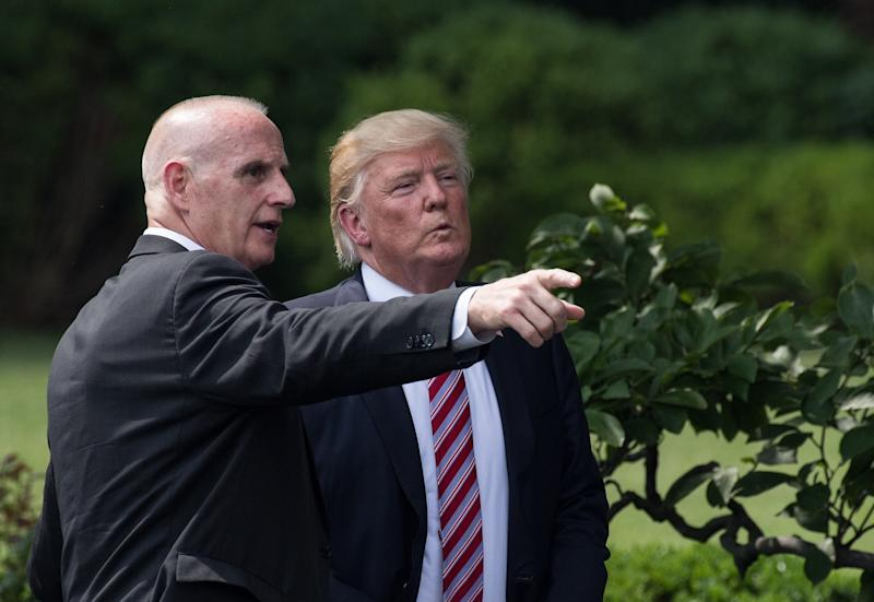 Trump and Schiller in June 2017. (NICHOLAS KAMM via Getty Images)