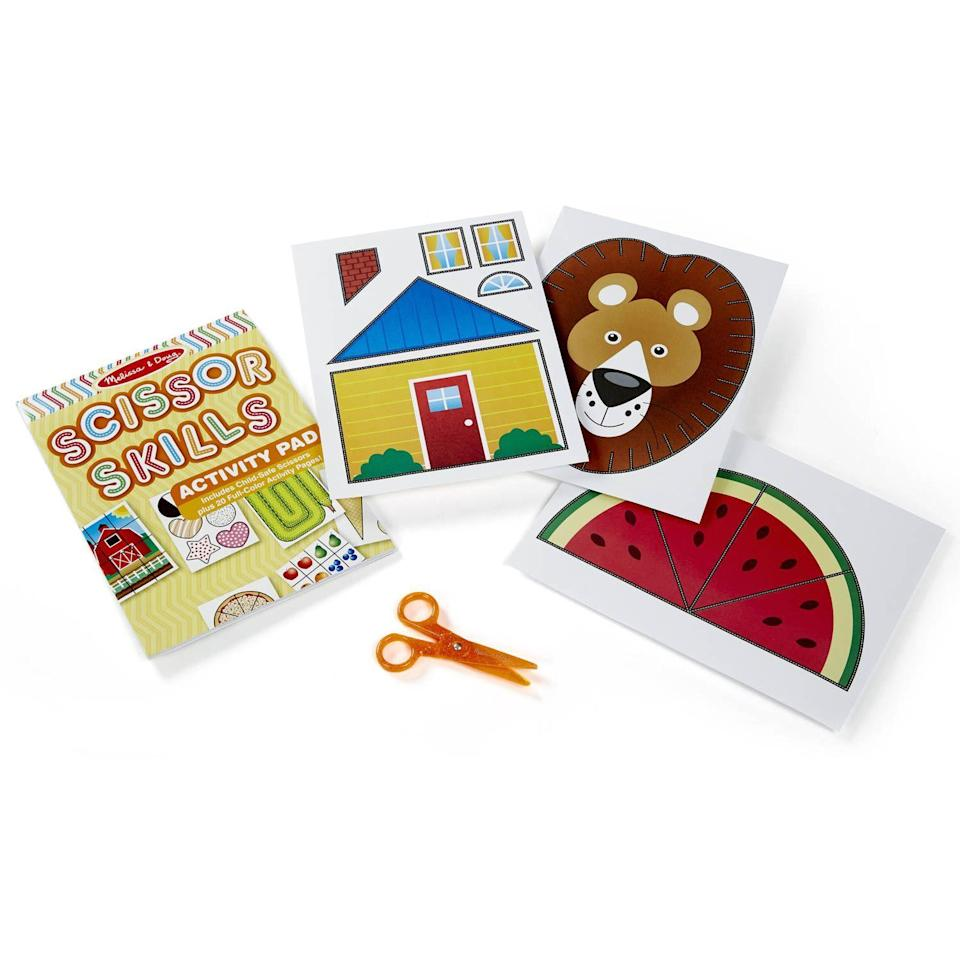 """<p><strong>Melissa & Doug</strong></p><p>walmart.com</p><p><strong>$19.99</strong></p><p><a href=""""https://go.redirectingat.com?id=74968X1596630&url=https%3A%2F%2Fwww.walmart.com%2Fip%2FMelissa-Doug-Scissor-Skills-Activity-Book-Animal-People-Play-Set-Pair-of-Child-Safe-Scissors-Included-20-Pages%2F50370829&sref=https%3A%2F%2Fwww.goodhousekeeping.com%2Fchildrens-products%2Ftoy-reviews%2Fg26859132%2Fbest-gifts-for-5-year-old-boys%2F"""" rel=""""nofollow noopener"""" target=""""_blank"""" data-ylk=""""slk:Shop Now"""" class=""""link rapid-noclick-resp"""">Shop Now</a></p><p>This toy is all about <strong>teaching fine motor skills</strong>. It also layers in cognitive development with activities like sequencing, mazes, animal art, and more. The book progresses from simple to more complex activities as your child's skills advance. <em>Ages 4+</em></p>"""