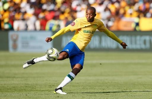Thapelo Morena opened the scoring for Mamelodi Sundowns in a 2-1 CAF Champions League victory over USM Alger