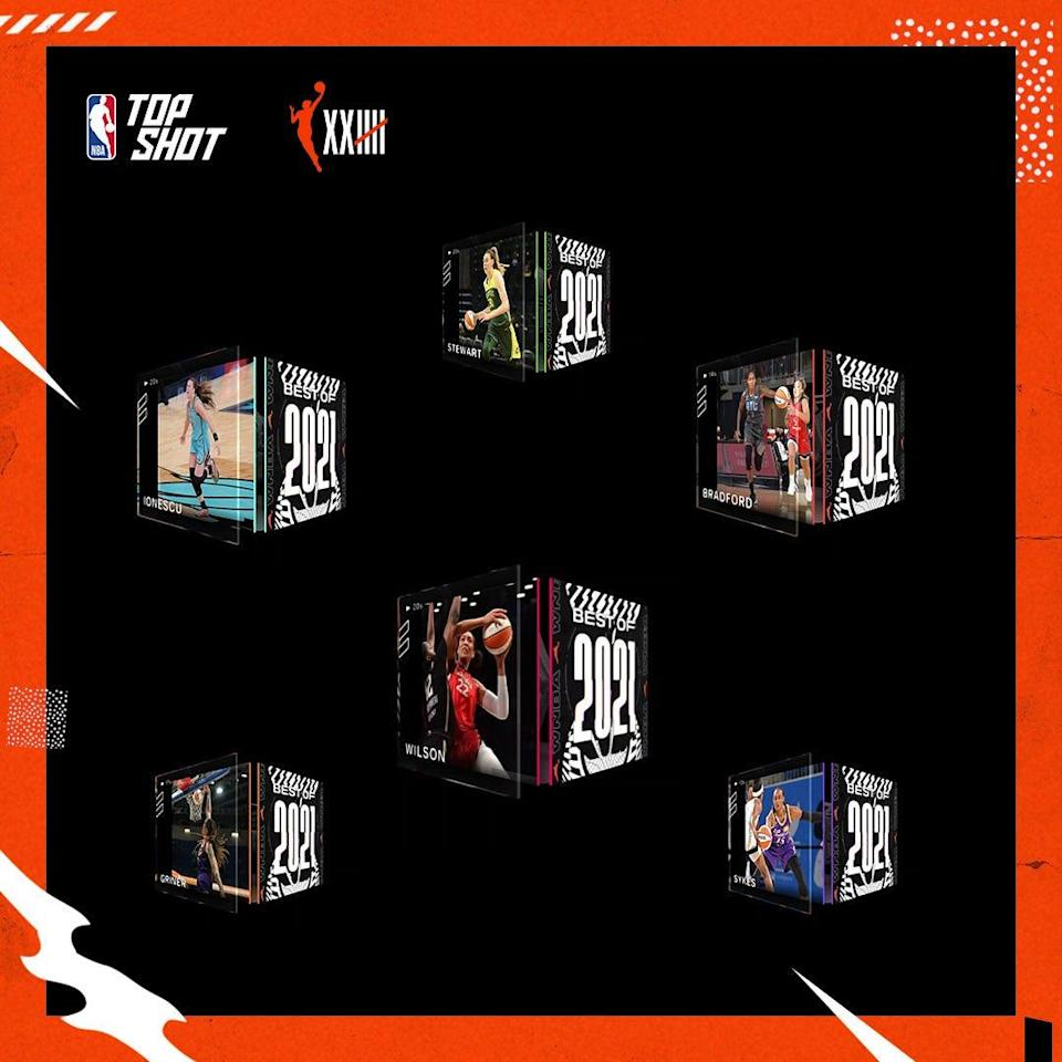 The first WNBA moments on NBA Top Shot will be available Friday.