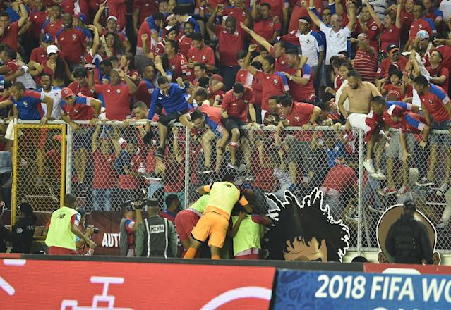 Panama's celebrations capped two-and-a-half of the wildest hours World Cup qualifying has ever witnessed. (Getty)