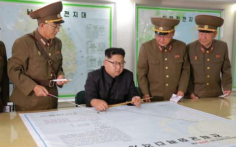 North Korean leader Kim Jong Un visits the Command of the Strategic Force of the Korean People's Army (KPA) in an unknown location in North Korea - Credit: Reuters