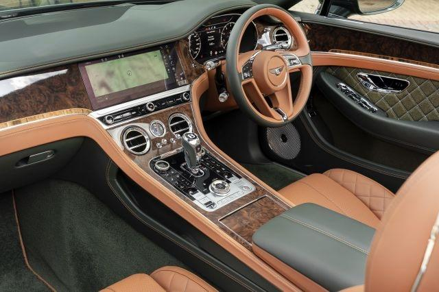 Interior of the Continental GT Convertible Equestrian Edition