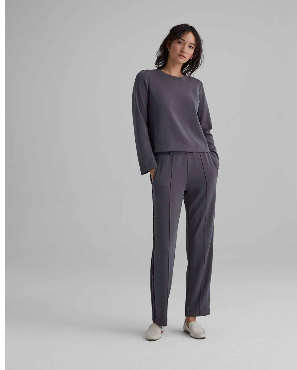 "<h3><a href=""https://www.clubmonaco.com/"" rel=""nofollow noopener"" target=""_blank"" data-ylk=""slk:Club Monaco"" class=""link rapid-noclick-resp"">Club Monaco</a></h3><br>If an ""elevated"" sweatsuit were a real thing, this lightly tailored Club Monaco set would be it.<br><br><strong>Club Monaco</strong> Sporty Striped Sweatshirt, $, available at <a href=""https://go.skimresources.com/?id=30283X879131&url=https%3A%2F%2Fwww.clubmonaco.com%2Fen%2Fwomen-clothing-knits-and-tees%2Fsporty-striped-sweatshirt%2F554095.html"" rel=""nofollow noopener"" target=""_blank"" data-ylk=""slk:Club Monaco"" class=""link rapid-noclick-resp"">Club Monaco</a><br><br><strong>Club Monaco</strong> Sporty Striped Pants, $, available at <a href=""https://go.skimresources.com/?id=30283X879131&url=https%3A%2F%2Fwww.clubmonaco.com%2Fen%2Fwomen-clothing-pants%2Fsporty-stripe-pant%2F0004526158.html"" rel=""nofollow noopener"" target=""_blank"" data-ylk=""slk:Club Monaco"" class=""link rapid-noclick-resp"">Club Monaco</a>"