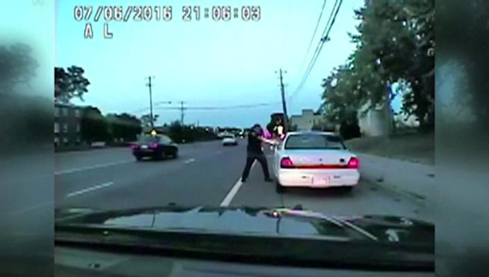 A still photo taken from a dashcam video shows the July 2016 police shooting of Philando Castile, a black motorist, during a traffic stop in Ramsey County, Minnesota, U.S., by officer Jeronimo Yanez released June 20, 2017. (Courtesy Minnesota Bureau of Criminal Apprehension/Handout via Reuters)