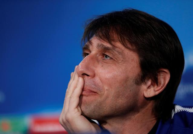 Soccer Football - Champions League - Chelsea Press Conference - Stamford Bridge, London, Britain - February 19, 2018 Chelsea manager Antonio Conte during the press conference Action Images via Reuters/Matthew Childs