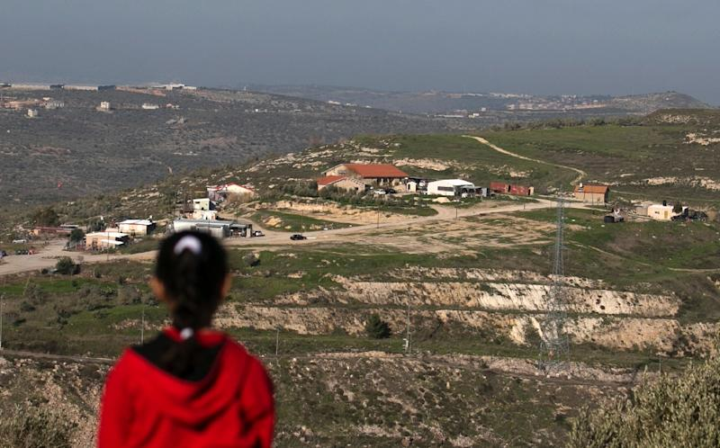 A picture taken from the outskirts of the Palestinian city of Nablus shows a view of the Jewish settlement outpost of Havat Gilad on February 2, 2018
