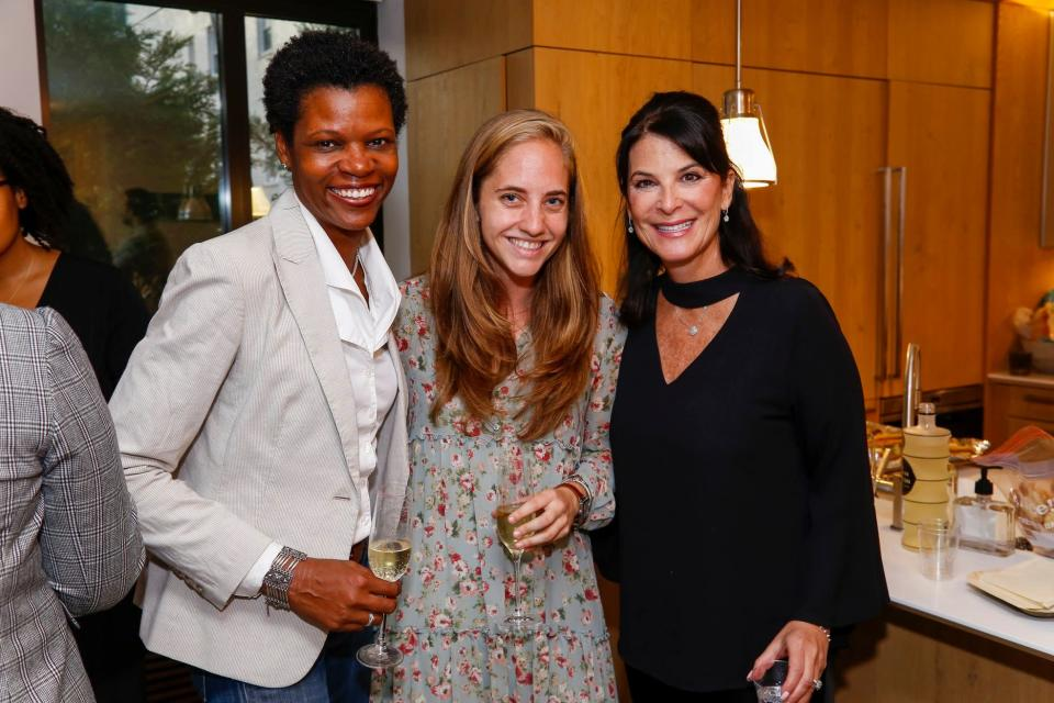 Madelaine Czufin, former New York City Director at Vinetta, Lorine Pendleton, a part of Vinetta's Venture Committee and Elizabeth Bluestone, Director of Scouting and Partnerships, P&G Ventures