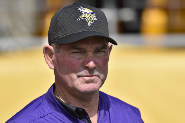 Come again? Vikings coach Mike Zimmer gave a confusing answer on Sam Bradford's status. (AP)