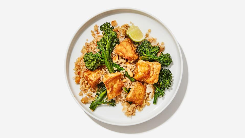 "<a href=""https://www.bonappetit.com/recipe/actually-good-tofu-with-coconut-quinoa-and-broccolini?mbid=synd_yahoo_rss"" rel=""nofollow noopener"" target=""_blank"" data-ylk=""slk:See recipe."" class=""link rapid-noclick-resp"">See recipe.</a>"