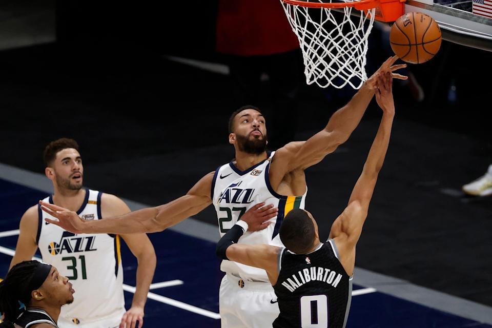 Rudy Gobert is the fourth player in NBA history to win Defensive Player of the Year three times.
