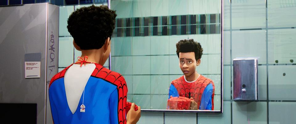 "<p>For decades, Peter Parker was a dorky white kid who did not fit in with his peers. In <strong>Spider-Man: Into the Spider-Verse</strong>, Spider-Man is Miles Morales, a young Afro-Latino who wears Air Jordan 1's and listens to rap music. For many young kids of color who dream of being superheroes, this was the first time they went to the theater and saw someone who looks like them on screen.</p> <p><a href=""https://www.amazon.com/Spider-Man-Into-Spider-Verse-Liev-Schreiber/dp/B07L9YXWSW/"" class=""link rapid-noclick-resp"" rel=""nofollow noopener"" target=""_blank"" data-ylk=""slk:Watch Spider-Man: Into the Spider-Verse on Amazon Prime Video"">Watch <strong>Spider-Man: Into the Spider-Verse</strong> on Amazon Prime Video</a>.</p>"