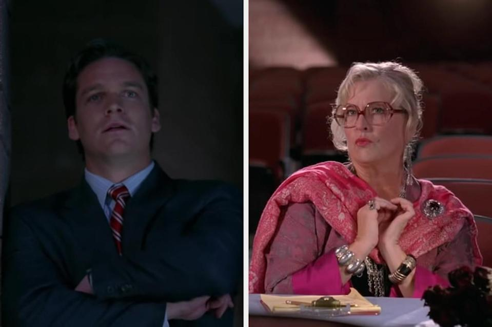 """Coach Bolton and Ms. Darbus in the first """"High School Musical"""" movie"""