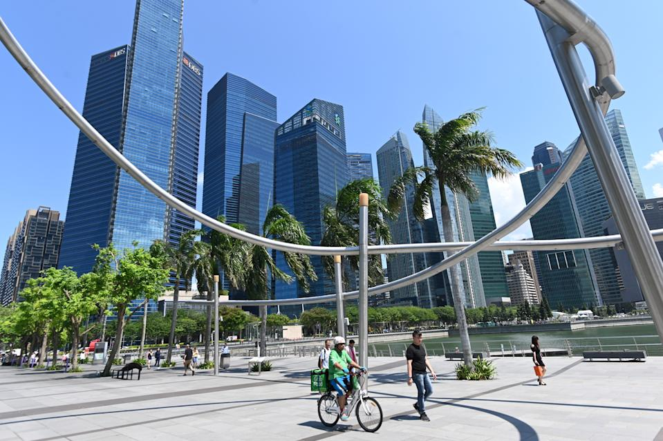 A general view of Singapore's financial business district is seen in Singapore on July 12, 2019. (Photo by Roslan RAHMAN / AFP)        (Photo credit should read ROSLAN RAHMAN/AFP via Getty Images)