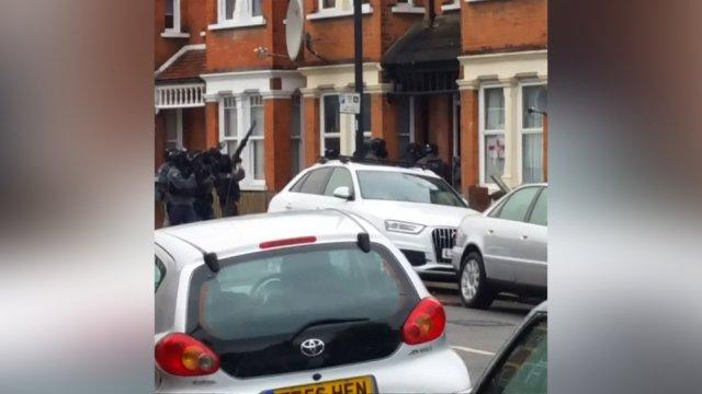 Police firing guns in London anti-terror raid