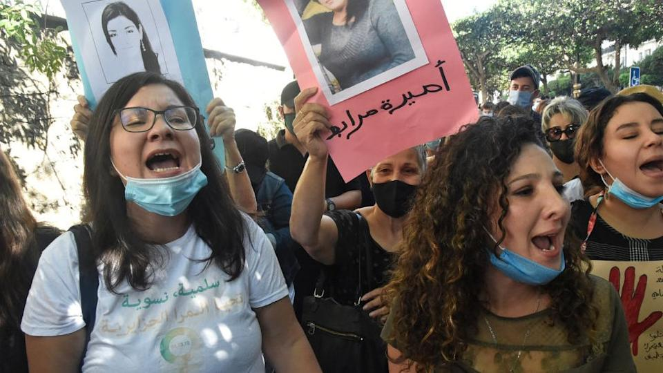 Protesters in Algiers said there was a heavy police presence during their rally
