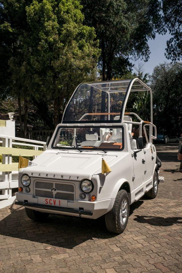 Pontiff to travel in locally-made popemobile for Madagascar trip