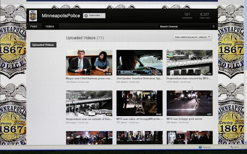 This May 17, 2012, image shows a computer screen displaying the Minneapolis Police Department YouTube Channel, part of what officials say is an effort to be more open with the public. Some police departments nationwide have had such channels for years, posting routine videos such as news conferences and public service announcements, but also occasionally posting footage to cast doubt on claims against them. (AP Photo/Minneapolis Police Department YouTube Channel)