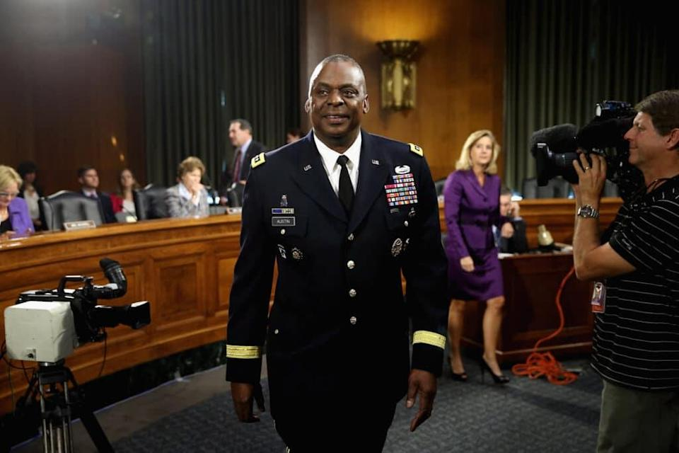 US defence secretary Lloyd Austin said the policy should be 'maintained', officials said. (Chip Somodevilla/Getty Images)
