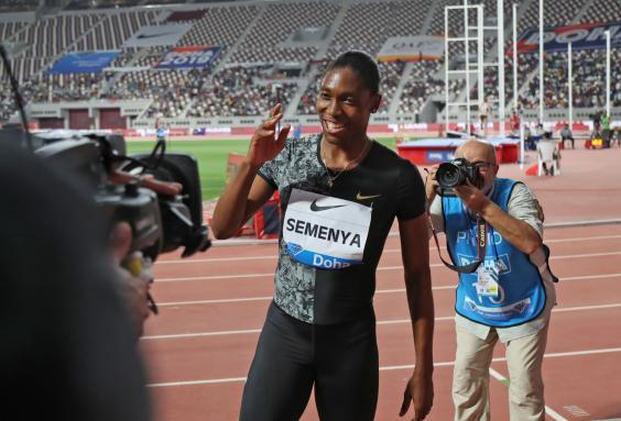 Semenya smiles for the cameras (AFP/Getty)
