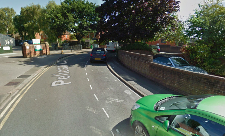 Space: The incident took place in Pelican Lane in Newbury (Google)